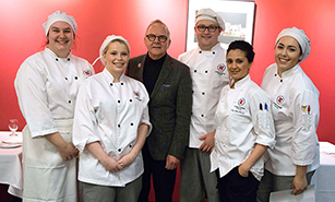 Chef John Bishop of acclaimed restaurant Bishop's visits LaSalle College Vancouver